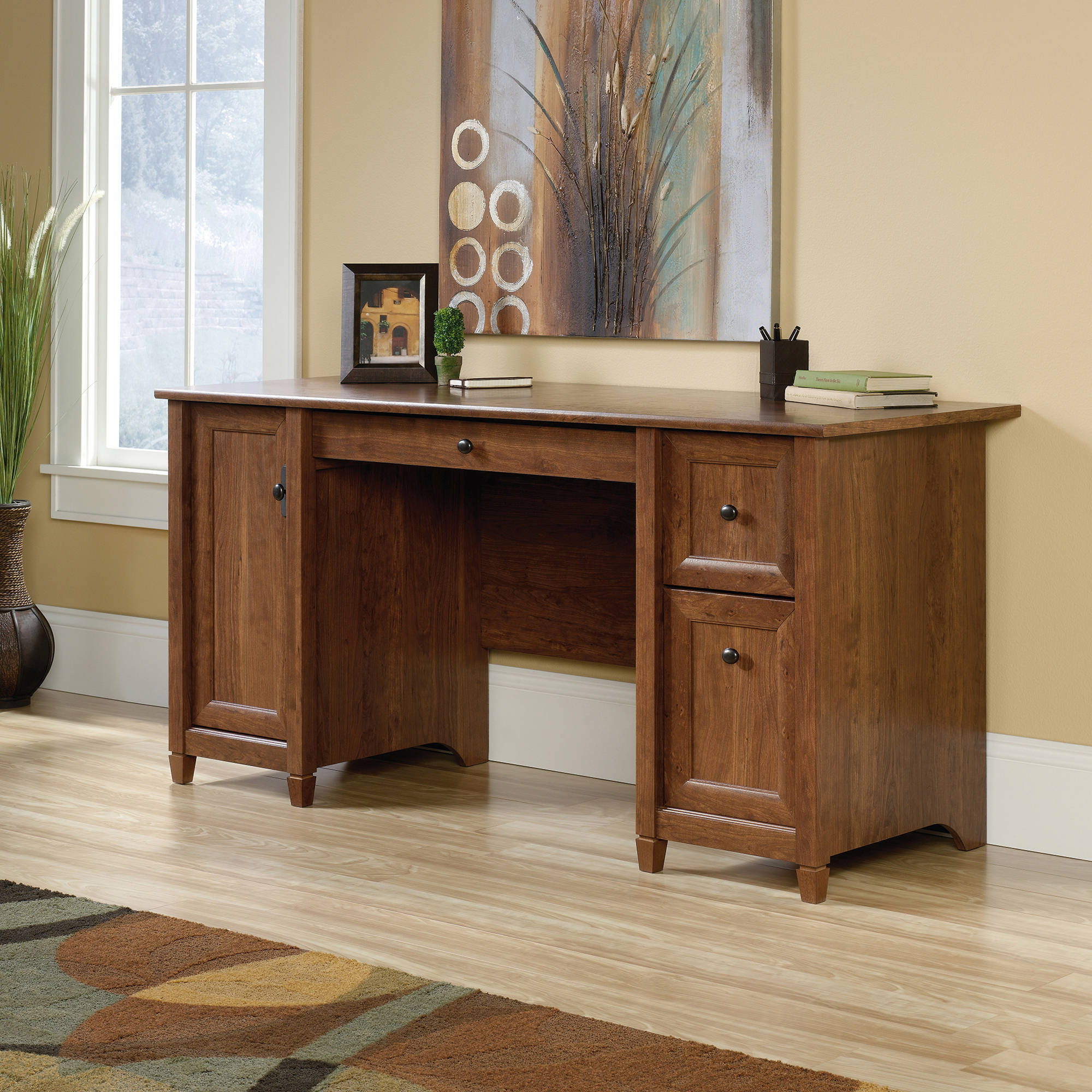 Sauder Edge Water Computer Desk, Multiple Finishes