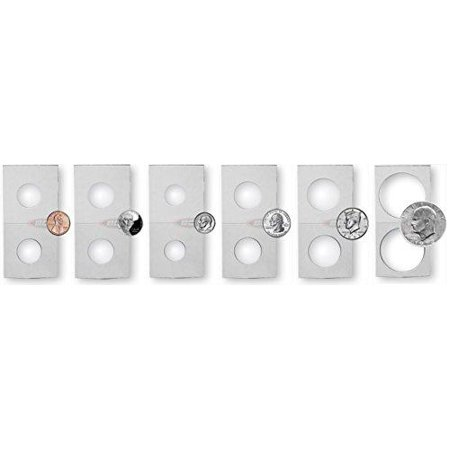 Coin Flip Assortment - Cardboard 2X2 Holders - 25 Each Of 6 Sizes - image 1 de 1