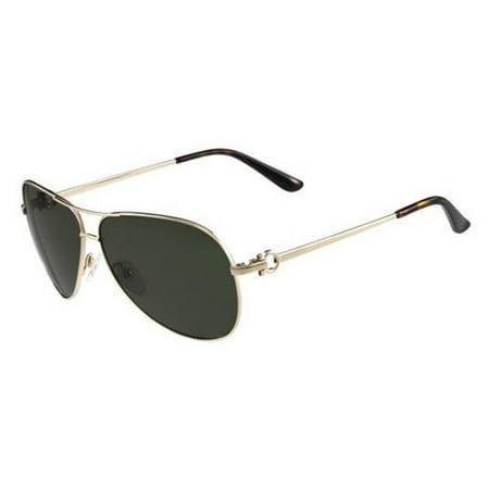 37b4591ef6 Salvatore Ferragamo - Salvatore Ferragamo Sunglasses SF109SL 718 Shiny Gold  Green - Walmart.com