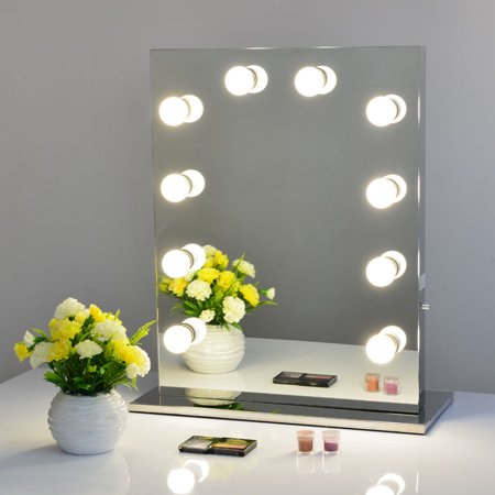 Large Four Light Vanity - Large Stage Beauty Mirror Home Dimmer Makeup Vanity Mirror With 10 Pcs Light On Clearance