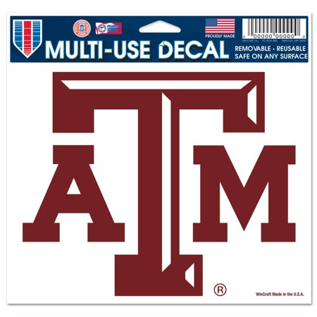 Texas A&M Aggies Official NCAA 4 inch x 6 inch Car Window Cling Decal by (Texas A&m Aggies Decal)