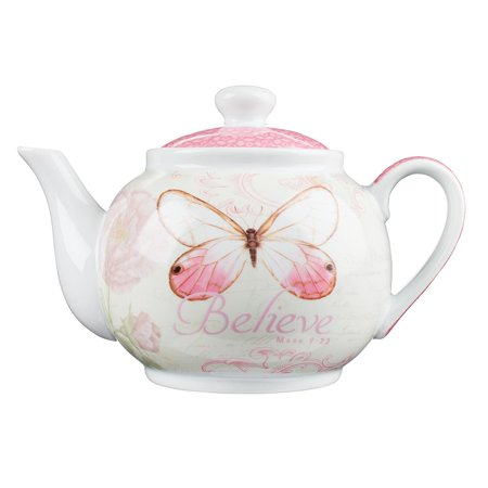 19.99: Teapot Butterfly Believe Pink (Other)