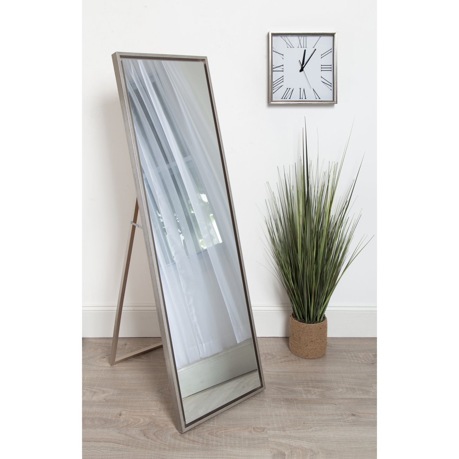 Wooden Mirror Stand Designs : Kate and laurel evans wood framed free standing floor mirror w