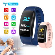EEEKit Fitness Tracker Smart Watch Activity Tracker IP67 Waterproof Slim Smart Band with Heart Rate and Sleep Monitor, Step Counter, Remote Control Photography, Pedometer for Kids Women Men