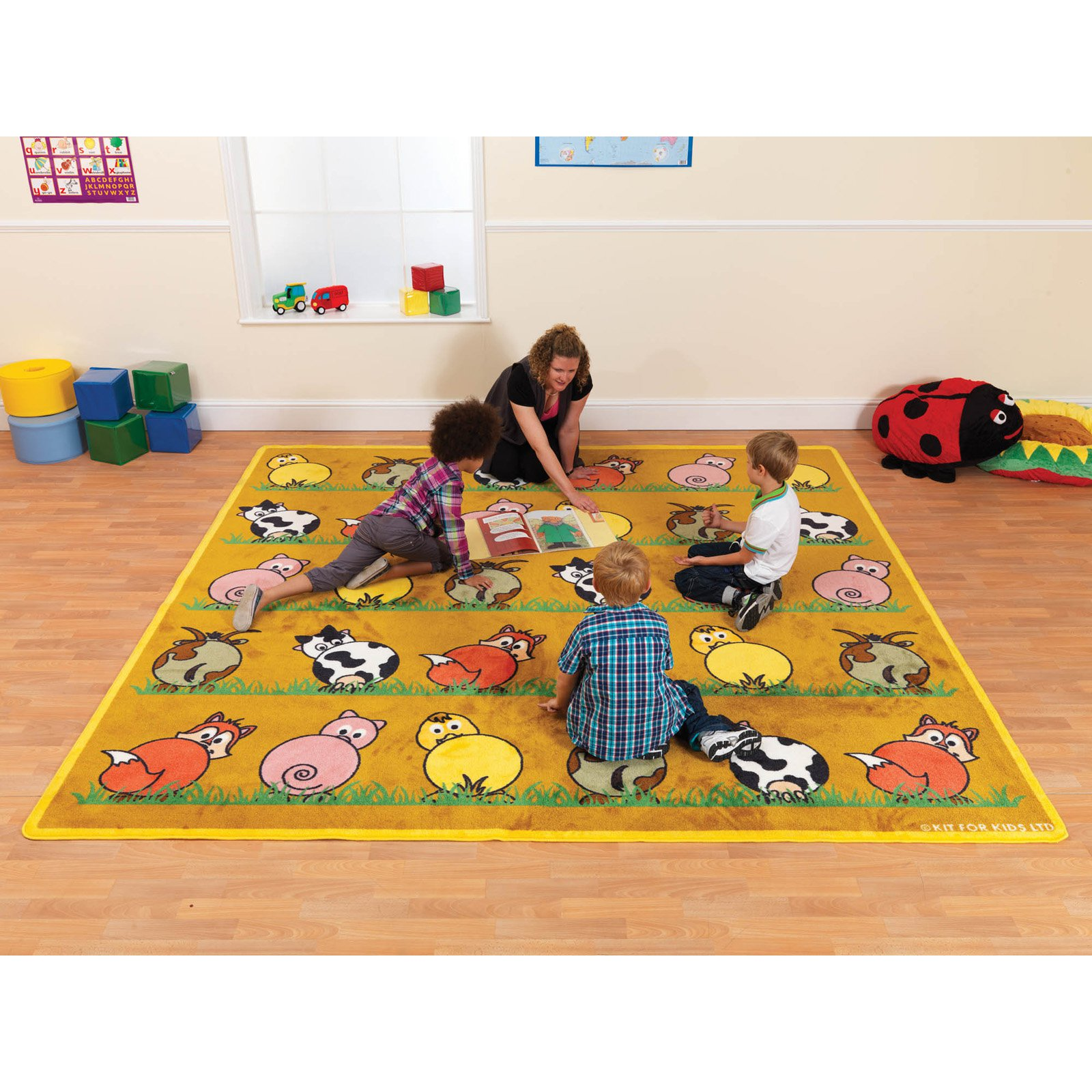 Kalokids Town & Country Farm Animals Placement Carpet