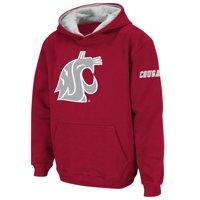 Washington State Cougars Stadium Athletic Youth Big Logo Pullover Hoodie - Crimson
