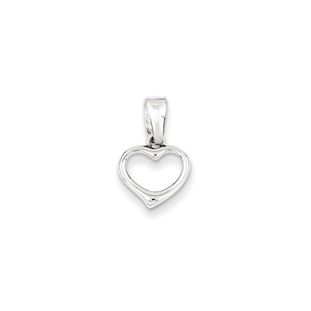 925 Sterling Silver Heart Charm Pendant   18Mm