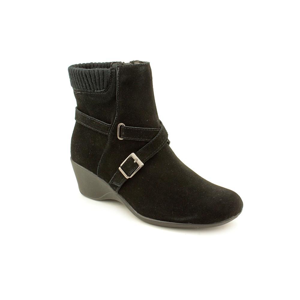 sashaa toe suede black ankle boot