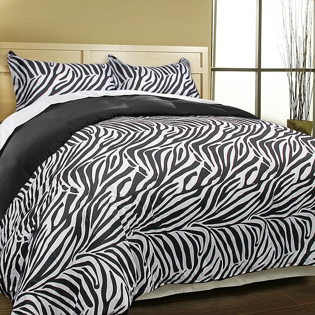 Blue Ridge Home Fashions LLC Luxury Zebra Microfiber 3-pi...