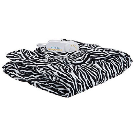Biddeford 404040 Comfort Knit Super Soft Heated Throw Interesting Zebra Print Electric Throw Blanket