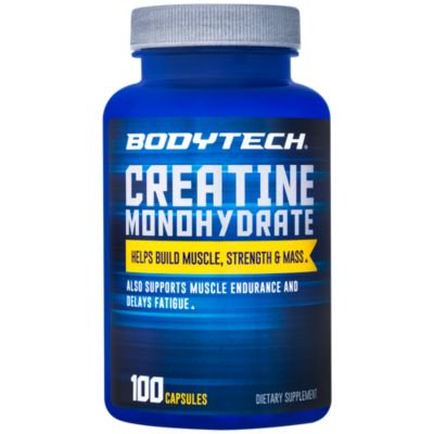 BodyTech 100 Pure Creatine Monohydrate 2250 MG  Supports Muscle Strength  Mass, 33 Servings (100