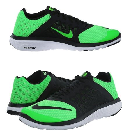 Nike 807144 300 FS Lite Run 3 Green Black Men's Running Shoes size 9.5