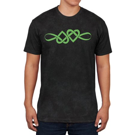 Irish Celtic Infinite Love Knot Mens Soft T Shirt