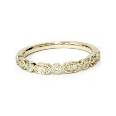 1/6ct Diamond Wedding Stackable Ring 14k Yellow Gold - image 2 of 4