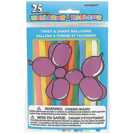 Twist and Shape Animal Balloons, Assorted, 25ct - Balloon Animals Instructions