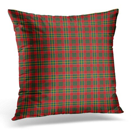 BSDHOME Red Plaid Patterned of The Clan Hunter USA Tartan Green Ancient Pillow Case Pillow Cover 20x20 inch - image 1 de 1
