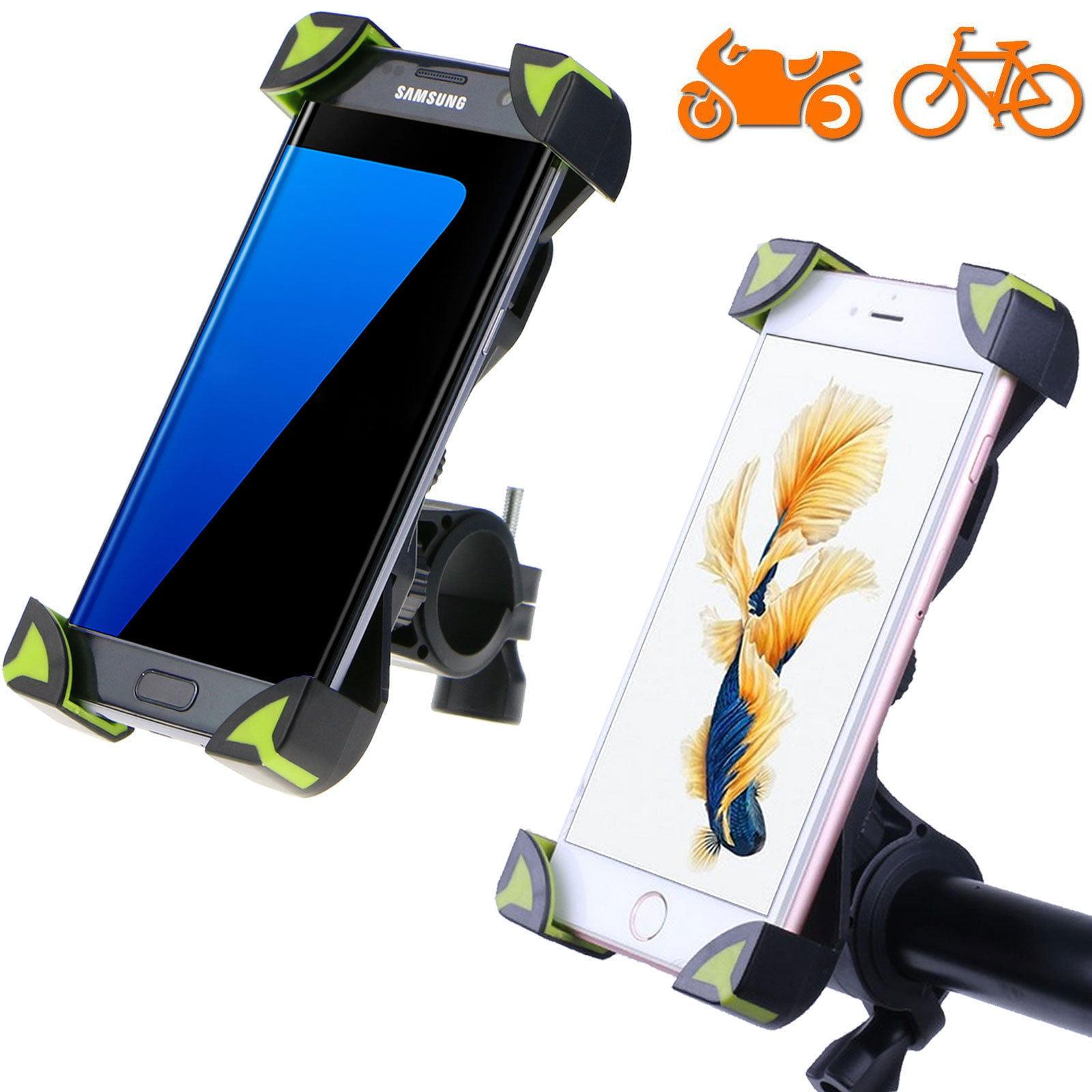 TSV Universal Motorcycle MTB Bike Bicycle Handlebar Mount Holder For Cell Phone GPS Greem