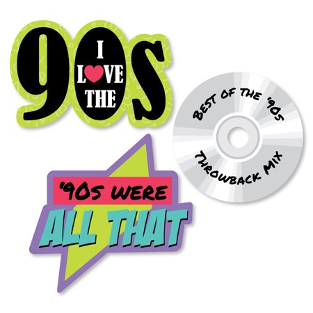 90's Throwback - Shaped 1990s Party Cut-Outs - 24 - 90s Birthday