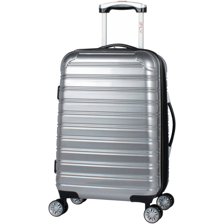 iFLY 20 Carry-on Hard-Sided Fibertech Luggage, Silver