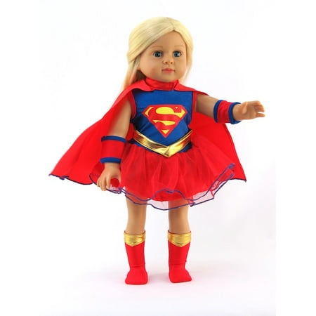 Supergirl Halloween Costume-Fits 18