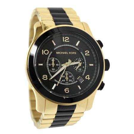 e5f183ba073 Michael Kors - Watches Runway Chronograph Black Dial Gold-Tone Men s MK8265  - Walmart.com