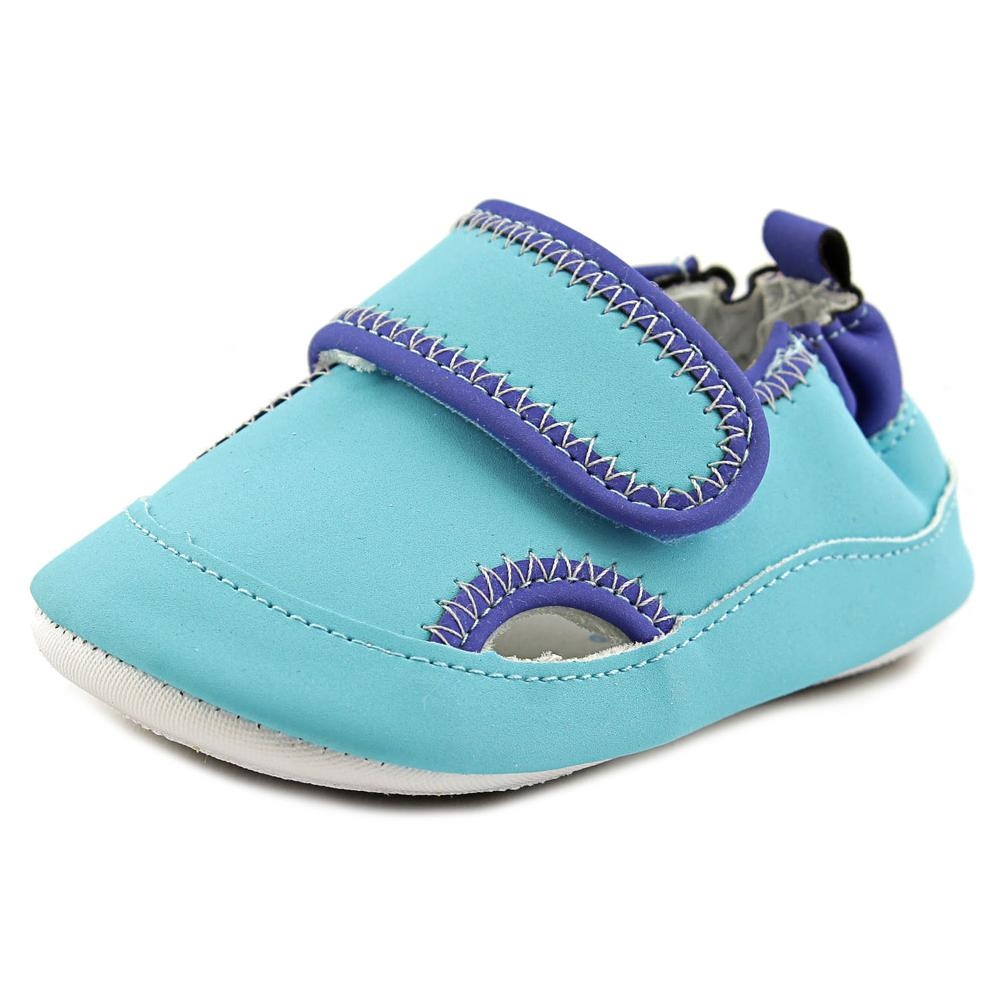 Robeez Wade Infant Round Toe Synthetic Blue Mary Janes by Robeez