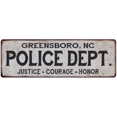 GREENSBORO, NC POLICE DEPT. Home Decor Metal Sign Gift 6x18 206180012059](Halloween Express Greensboro Nc)