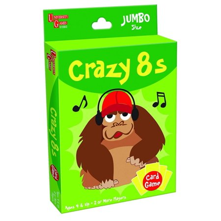 University Games Ultimate Tv (Crazy 8s Card Game, Jumbo Size, Time to get crazy! By University Games)