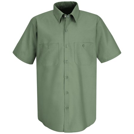 Red Kap Mens Short Sleeve Industrial Work Shirt
