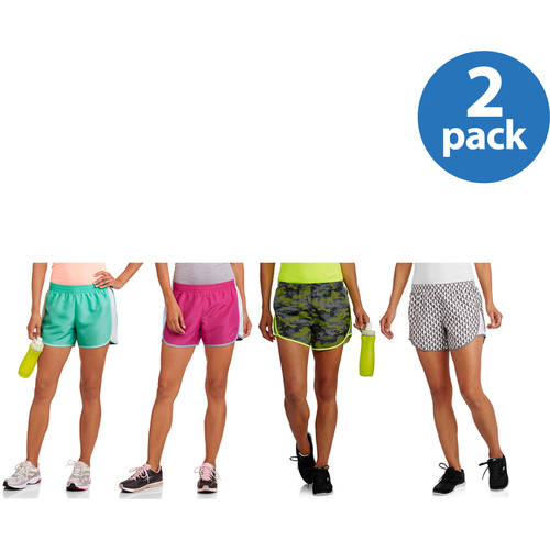 Danskin Now Women's Active Woven Short w/Liner 2pk Value Bundle