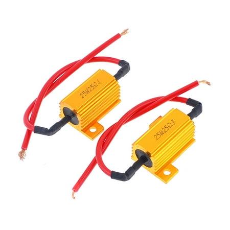- Unique Bargains 2 Pcs 25 Ohm 25W Watt 5% Gold Tone Aluminum Housing Wire Wound Resistors