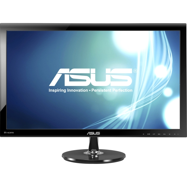 "Asus VS278Q-P 27"" LED LCD Monitor - 16:9 - 1 ms - Adjustable Display Angle - 1920 x 1080 - 16.7 Million Colors - 300 Nit - 80,000,000:1 - Full HD - Speakers - HDMI - VGA - DisplayPort - 45 W - Glossy"