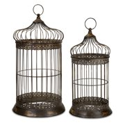 Set of 2 ByzanMetale Dome Bird Cages