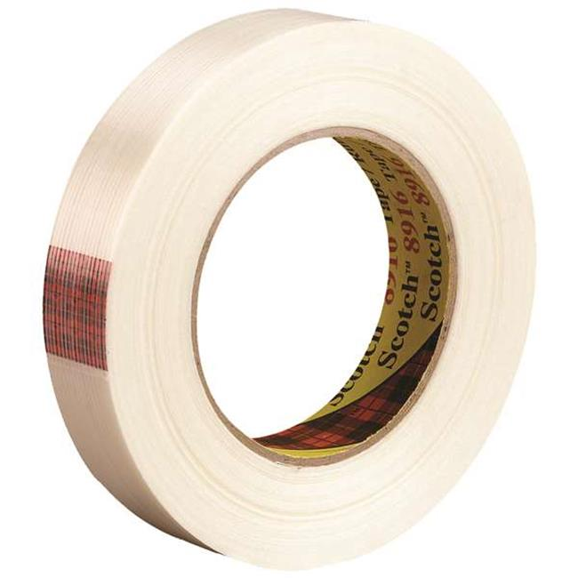 Scotch T9148916 0.75 in. x 60 yards 8916 Strapping Tape, Clear - Case of 48