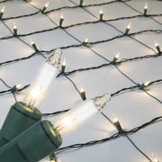 4 X 6 Clear Christmas Net Lights 150 Lamps On Green Wire