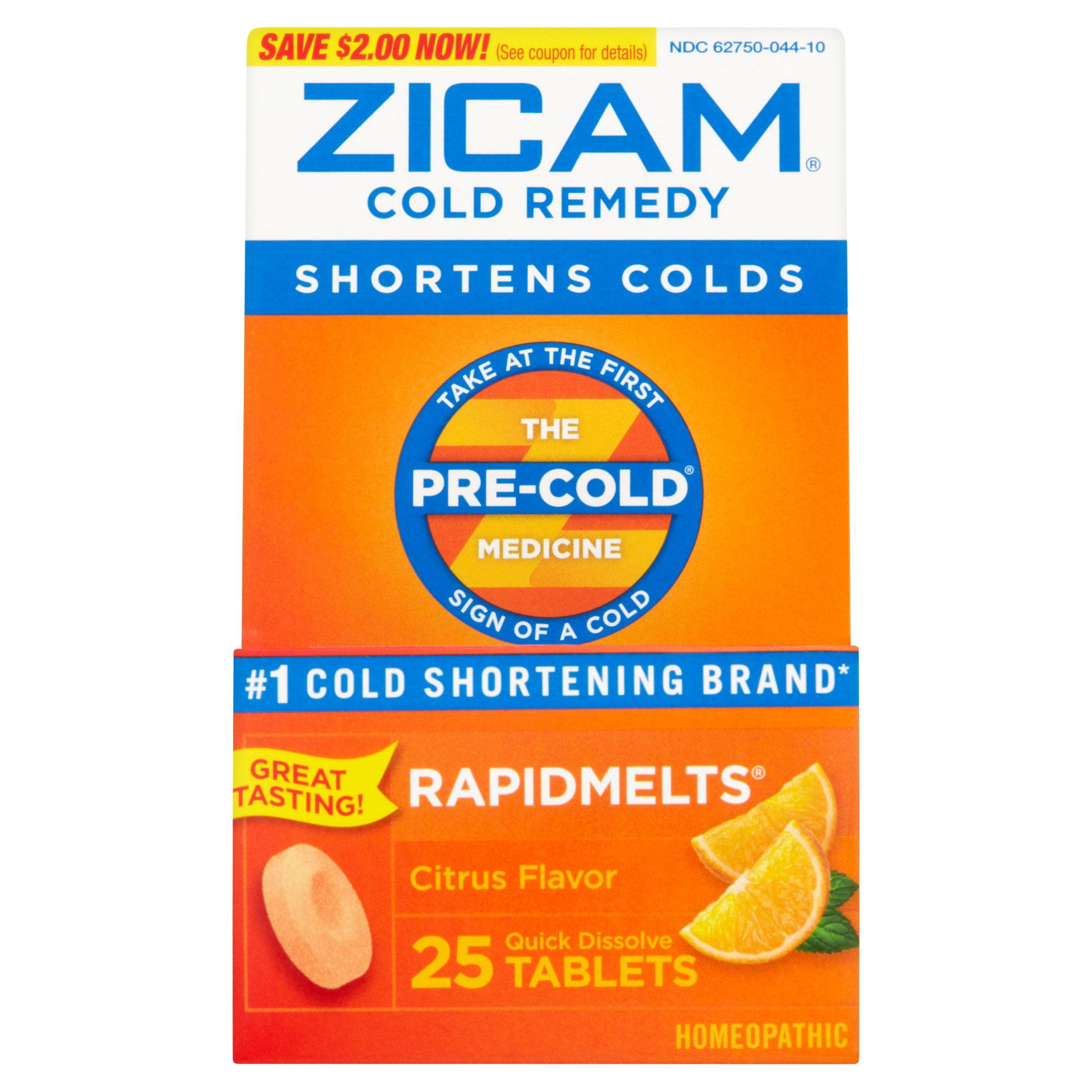 Zicam Cold Remedy Citrus RapidMelts, 25 Ct