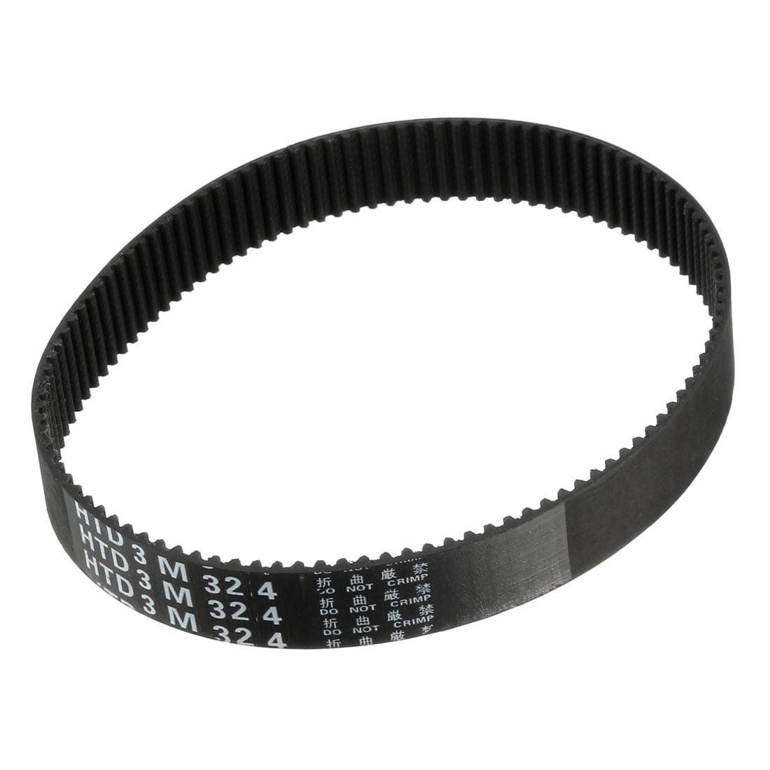 Unique Bargains HTD3M 108 Teeth Engine Timing Belt Rubber Geared-Belt 324mm Girth 15mm Width - image 2 de 2