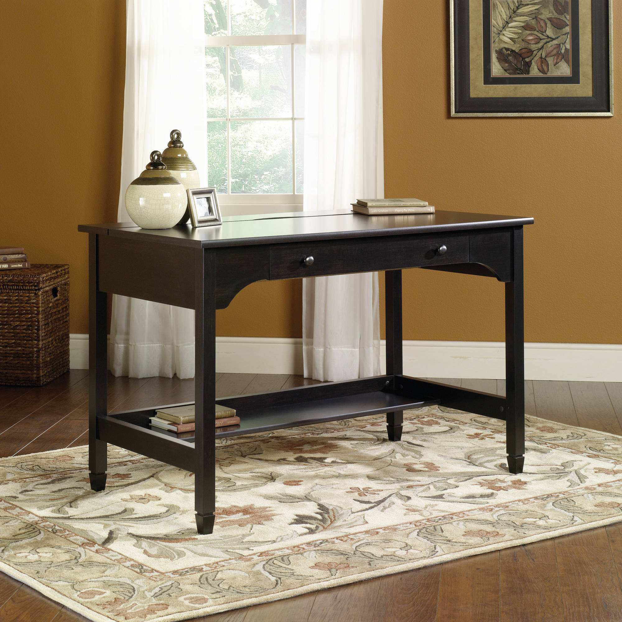 Sauder Edge Water Mobile Lifestyle Desk, Estate Black