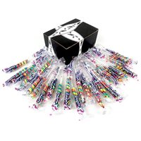 Mini Rainbow Unicorn Pops, 0.42 oz Packages in a Black Tie Box (Pack of 25)