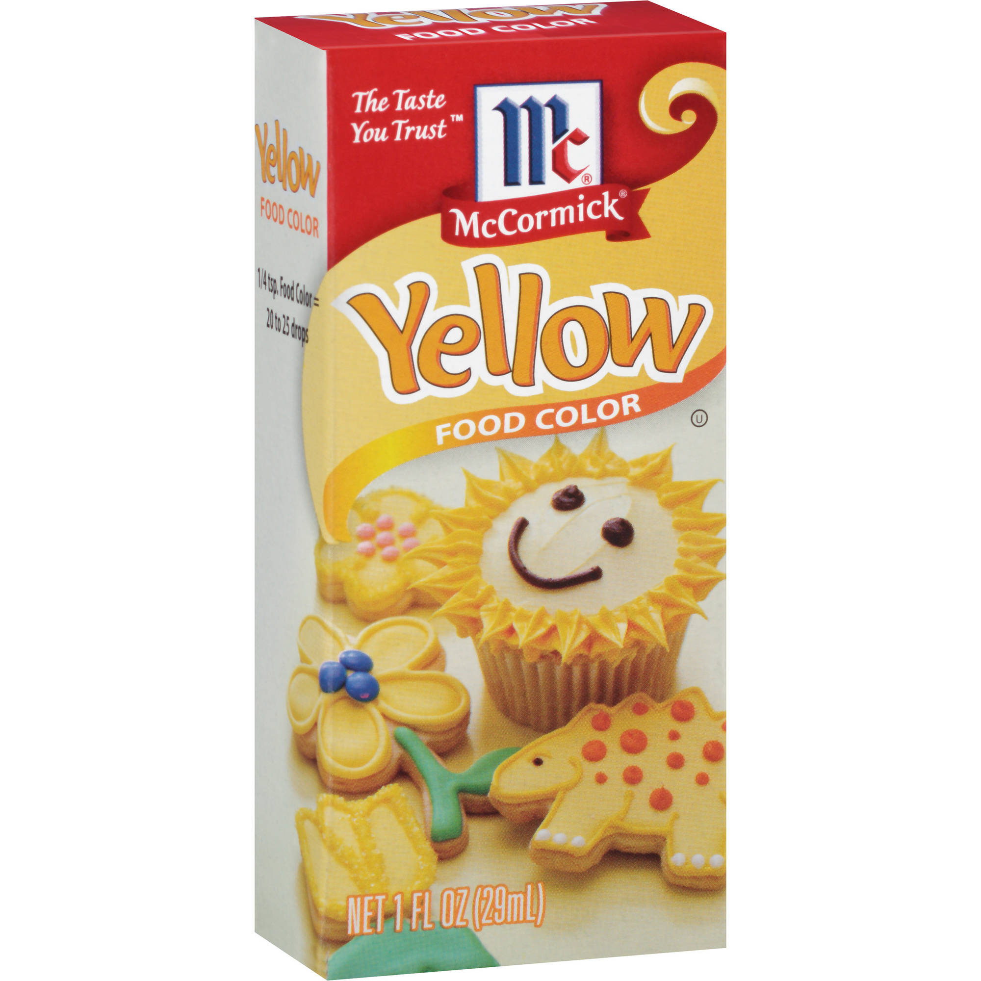 McCormick Yellow Food Color, 1 oz