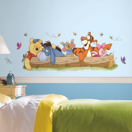 Winnie the Pooh Outdoor Fun Peel and Stick Giant Wall Decals
