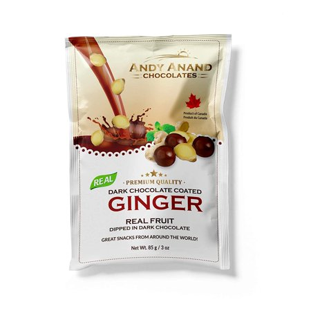 Merckens Chocolate Ingredients (Andy Anand's Chocolates- Premium California Ginger covered with Vegan Rich Dark Chocolate, All-Natural and certified Made from Natural Ingredients – (Pack of 2 – 3 oz.) )