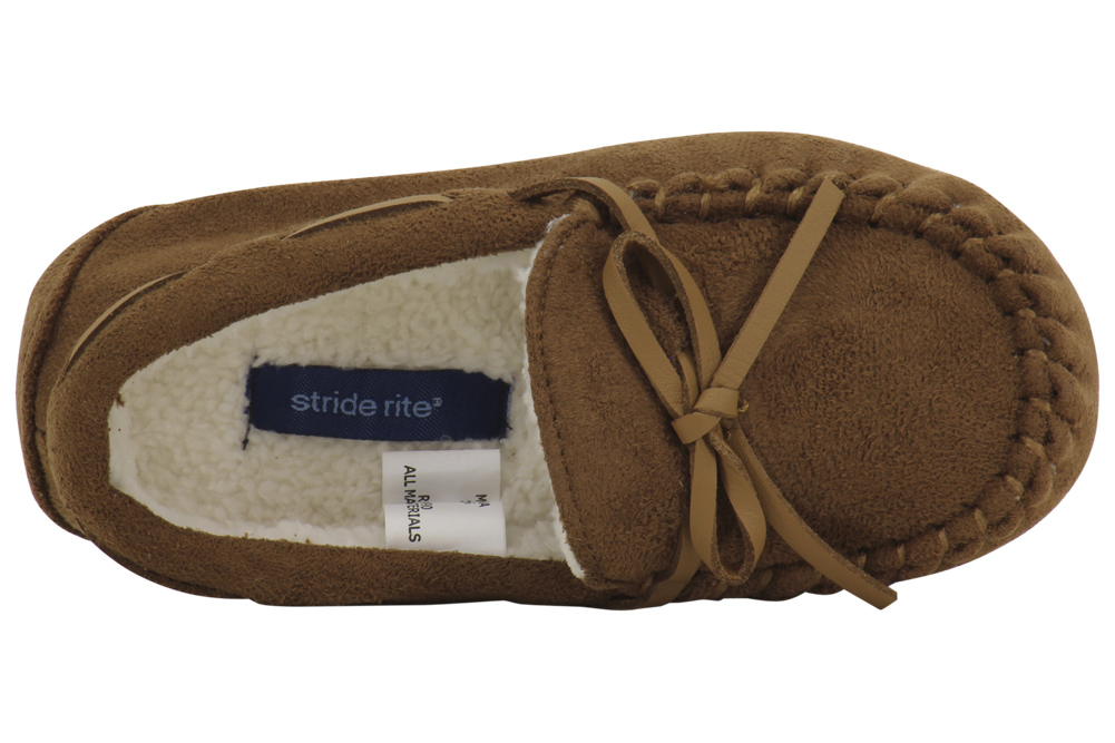 4bae3954 Stride Rite - Stride Rite Little Kid's Alex Brown Fashion Moccasin Slippers  Shoes - Walmart.com