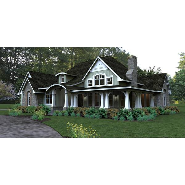 TheHouseDesigners-4838 Construction-Ready Country Cottage
