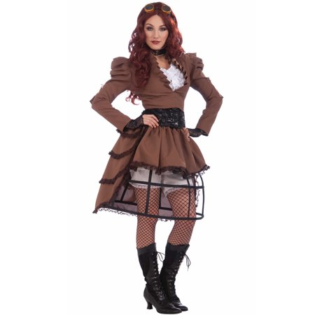 Steampunk Vicky Women's Adult Halloween Costume, 1 Size