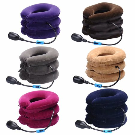 Akoyovwerve Neck Cervical Traction Device Inflatable Neck Pillow Instant Relief Neck Protector Tractor for Chronic Neck Shoulder Back Pain Alleviate Spine