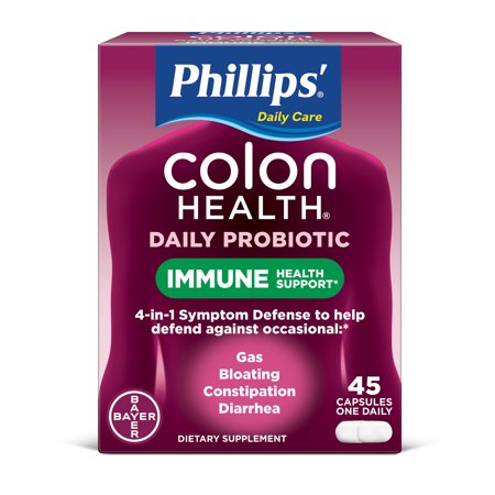 Phillips' Colon Health Daily Probiotic Supplement Capsules, 45
