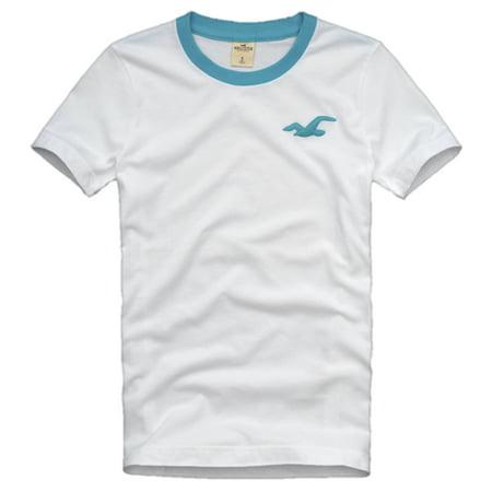 Hollister Mens Solid Ringer T Shirt Lobster Point