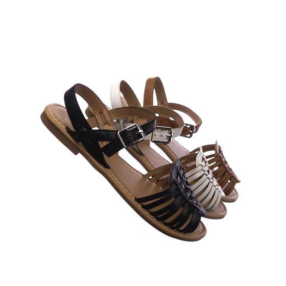 7205bed8680 Soda - Milene by Soda, Woven Fisherman Huarache Flat sandal, Women Open Toe  Shoes - Walmart.com