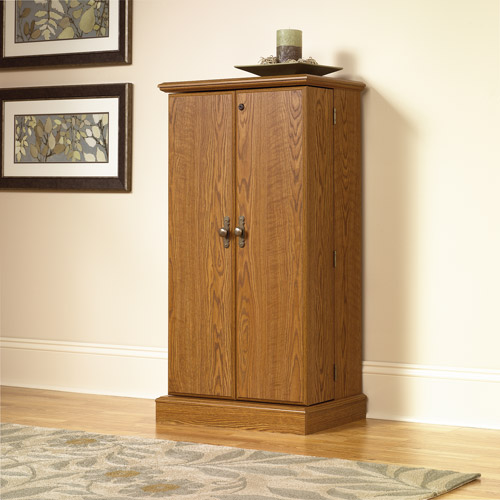 Sauder Orchard Hills Multimedia Storage Cabinet, Carolina Oak
